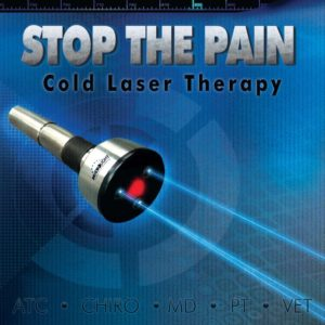 Shows the ML830 Cold Laser to stop pain and speed healing.