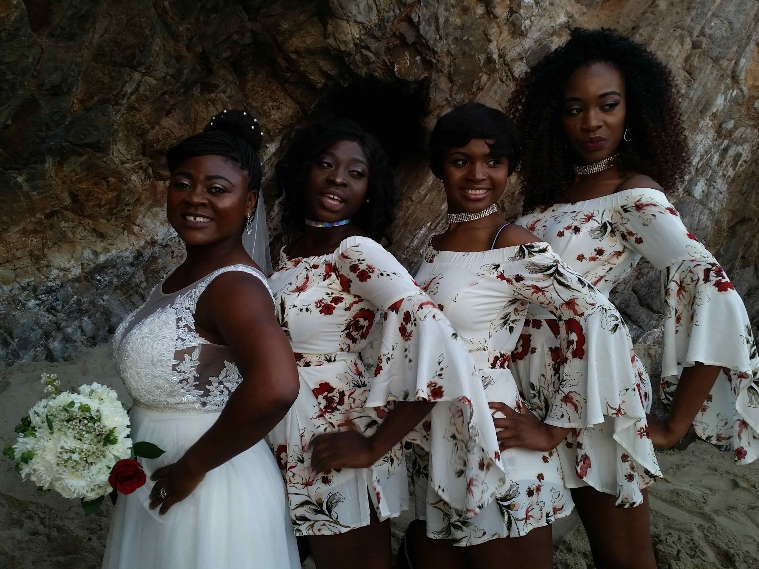 Laguna Beach wedding bridesmaids